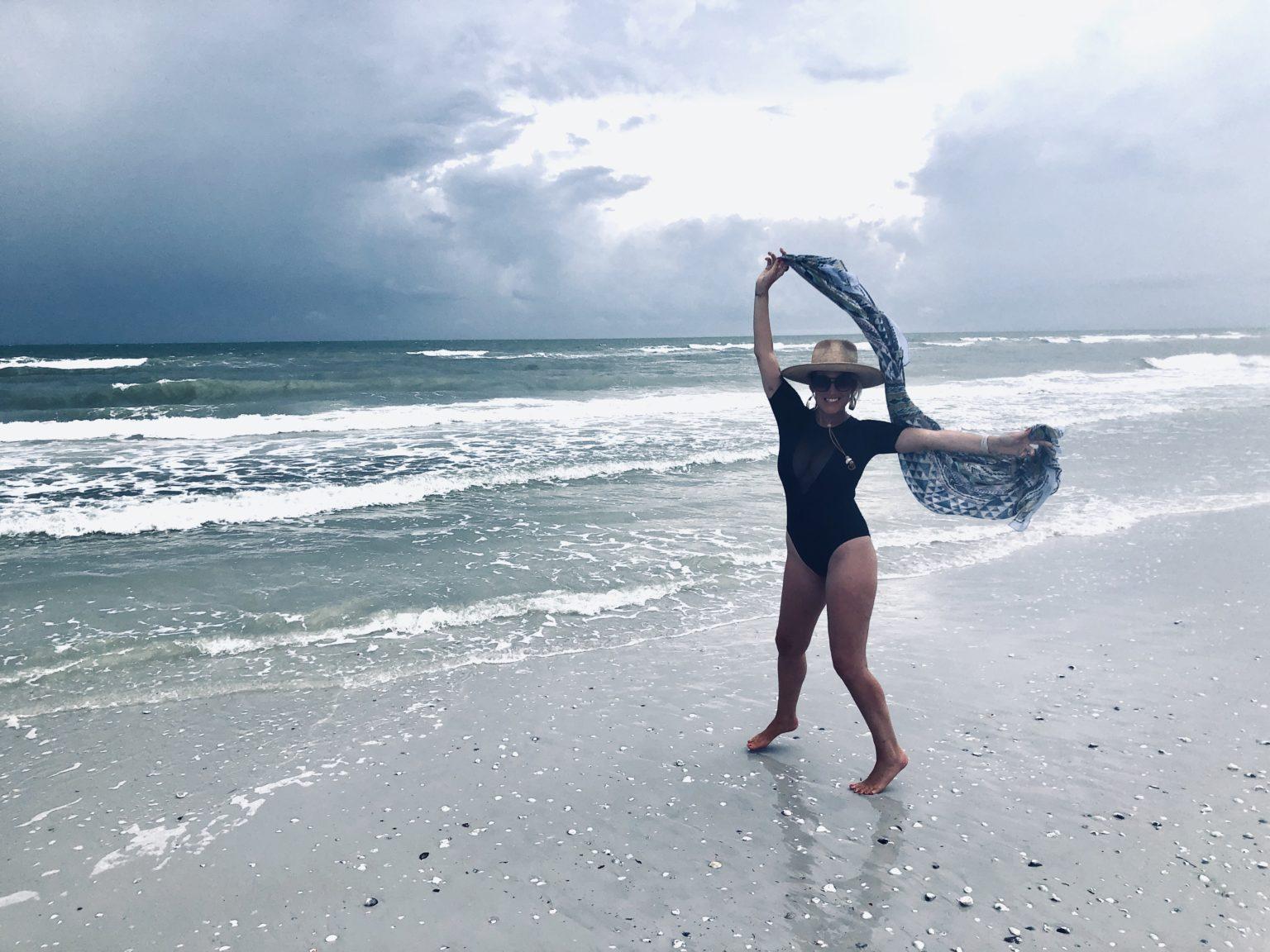 Marisa Sullivan Poses On The Beach