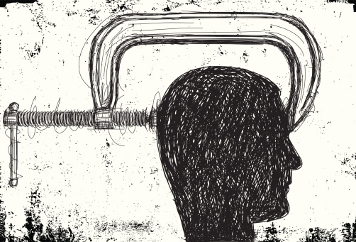 head in a vise